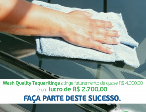 #CaseDeSucesso – Wash Quality Taquaritinga/SP